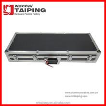 Black Aluminum Foam Guitar Case Keyboard Case Gun Case Handle