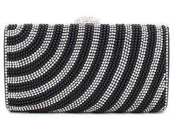 Fashion design rhinestone beaded clutch for women