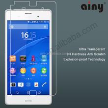 Anti glare Tempered Glass mobile Screen shield / protector for sony Xperia z3 mini