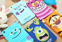 New Monster Tiger Cat ET Cartoon Cover Case Soft Silicone Back Covers Cases For iPad mini 1/2/3