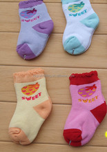 sweet design new born baby warm terry cotton socks