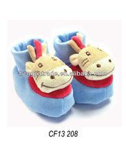 Intérieur en peluche bébé animal slipper