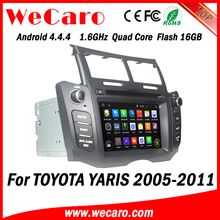 Wecaro Android 4.4.4 radio gps 1024 * 600 double din car dvd gps for toyota yaris 16GB Flash 2005 - 2011
