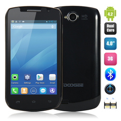 3G Android Yxtel Mobile Phone MTK6572 Dual-core 1.3GHz 4.0Inch 4GB 512MB 5.0MP 2.0MP GSM WCDMA 1150mAh DOOGEE Collo3 DG110