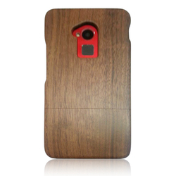 Latest Walnut wood case for HTC,two pieces styles case for HTC