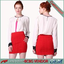 2015 hot sale cheap custom fashion design girls skirt and top