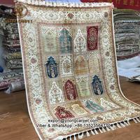 140x200cm Prayer tree of life handmade oriental persian four seasons silk rug