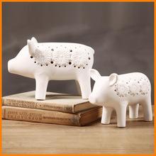 zakka simple desktop bedroom den ceramic pig ornaments creative home decorations ornaments Yiwu sourcing