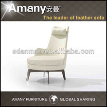 Leather chair leather tub chair(B91) in white color