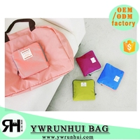 China Supplier 2015 Eco-friendly Fashion Foldable Tavelling bag waterproof Kkorea fashiob ladies handbag
