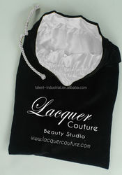 Customized velvet satin pouch for jewelry /gift pouch with drawstring closure/satin lined velvet pouches