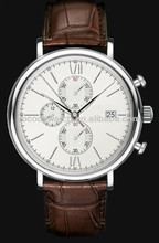 Rococo X1004 A basic chronograph has an independent sweep second hand; it can be started, stopped, and returned to zero
