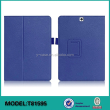 Brand new customized Folio stand leather case for Samsung galaxy Tab S2 9.7
