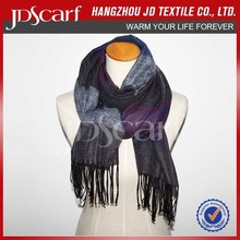 Newest stripe brushed scarf SBA018,soft touch scarf, warm and comfortable scarf