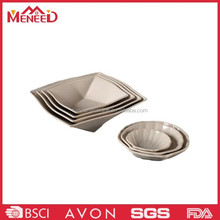 Popular on hotel and restaurant solid color plastic melamine polygon plate