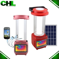 2015eye protection solar tv light with mobile,portable lantern rechargeable usb,hanging camping tv light solar light with mobile