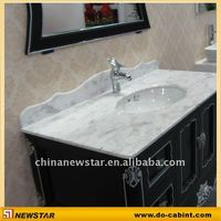 Bath cabinet High class bathroom cabinets with marble top(NSBC-010)