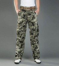 2015 Hot Sale Fashionable Outdoor Casual Camouflage Men's Military Style Cargo Pants With Many Pockets