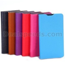 Wood Grain Wallet Style Side Flip Stand Leather Case with Card Slot for LG L65 D280 / Dual SIM D285