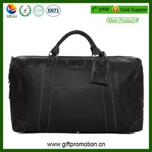 high quality men leather travel bag
