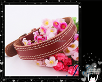 2015 Hot Sale Waterproof Genuine Leather Dog Training Collar Pet Collar With Great Price