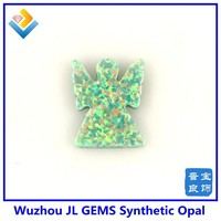 Drilled Hole Synthetic OP03 Moon Yellow Angel Opal Gemstone With High Quality