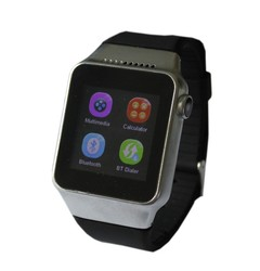 """1.54"""" touch screen smart watch phone with GSM card slot, calling on watch separately, BT sync, FM, pedometer, sleep monitoring"""