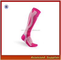 Custom PInk Women Elite Recovery Performance Compression Sport Socks