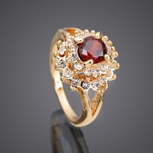 gold plated new model cz crystal wedding ring