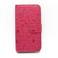Hot Selling! For HTC 528D 328W Mobile Phone PU Leather Case - Rose Red