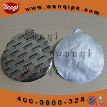 Universal aluminum foil seal liner for plastic gallon food