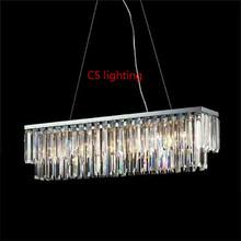 2014 neue edelstahl, kristall-kronleuchter trompete lampe
