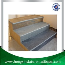 Chinese Factory Direct Sales Cheap 120*30 Bullnose Edge Polished Surface Rectangle Grey Decorative Slate Steps Slate Stair Tread