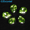 Top quality drop shaped colored crystal glass stones bead