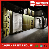Life Span 30 Years Affordable Commercial Flat Pack Container House/Fast Food Containers Mobile Food Shop