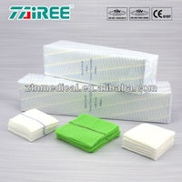 soft and absorbent gauze swab with different size