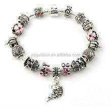 Silver European Style Charm Bracelet For Women fashion bangle bracelets big sale european style hipanema bracelet