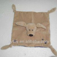 Cute plush baby handkerchief supplier