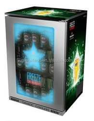 fridge with TLCD screen advertisement ,can show your advertisment on the door