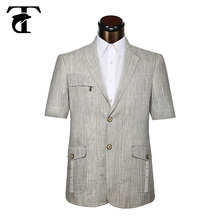 Custom men clothing men safari with 2 button men casual wear