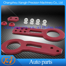 cheap and beautiful design anodised aluminum front rear tow hook made in china