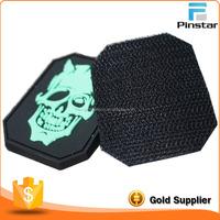 wholesale custom glow in the dark grateful dead 3D Rubber pvc velcro patch