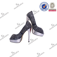 china wholesale customer design ladies shoes hills