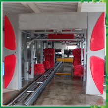 Fully automatic tunnel car washer type and tunnel car wash system