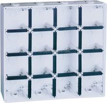 IP66 wateproof enclosure box, suface mounting enclosure back box 12gang