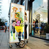 J2A-082 Double Sides!! New media indoor&outdoor advertising illuminated backpack billboard with high bright LED light