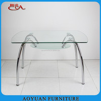 cheap 4 people glass top dining room table design