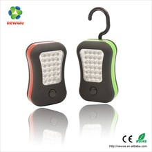 Plastic Work light emergency 24+4 LED portable outdoor led light with magnet and hook