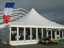 8m x 8m big pagoda tent with solid walls