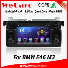 """Wecaro 7"""" Android 4.4.4 in dash radio player for bmw e46 car dvd and gps 1998-2005"""